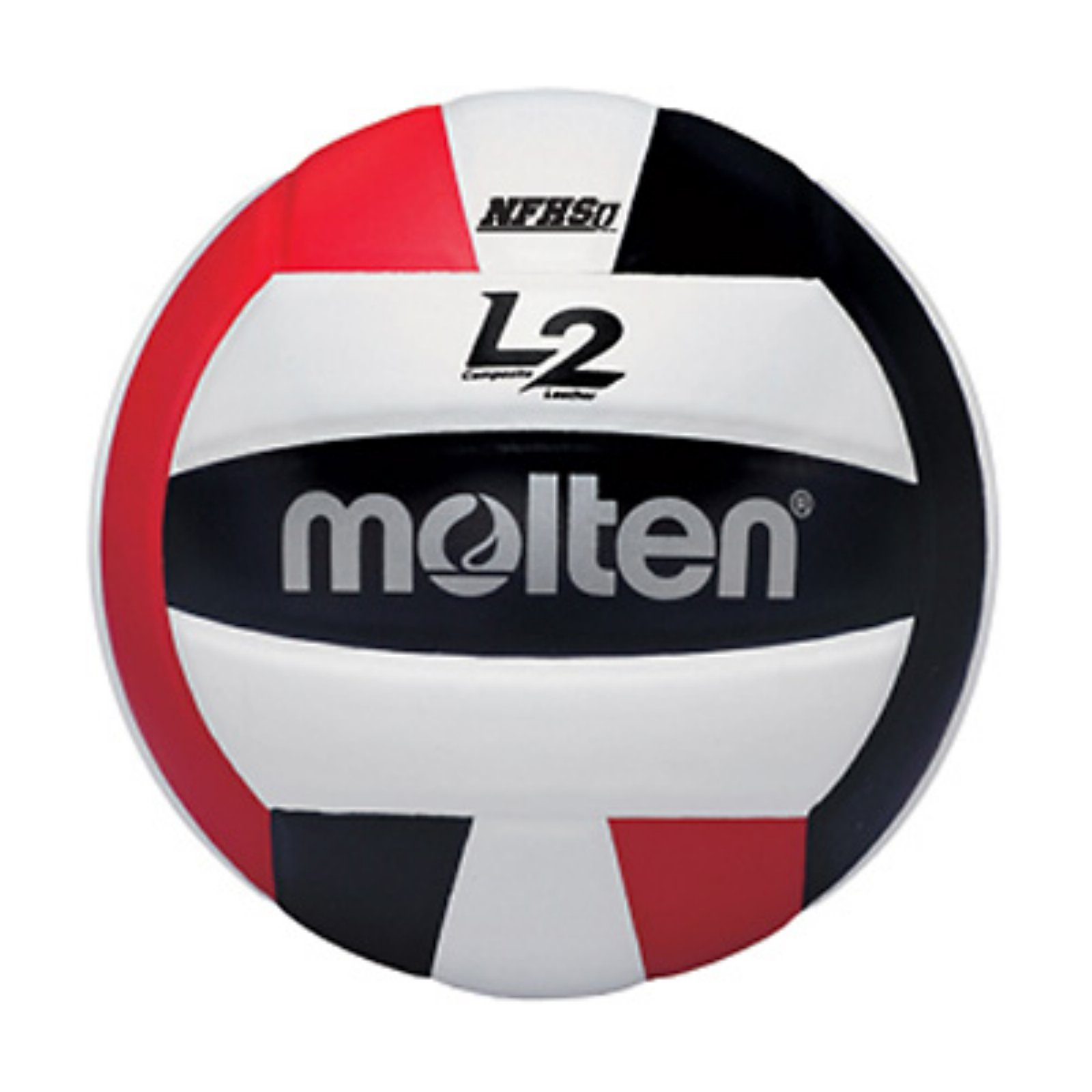 Molten L2 Series Nfhs Approved Volleyball Black White Red Molten Volleyball Indoor Volleyball Volleyball