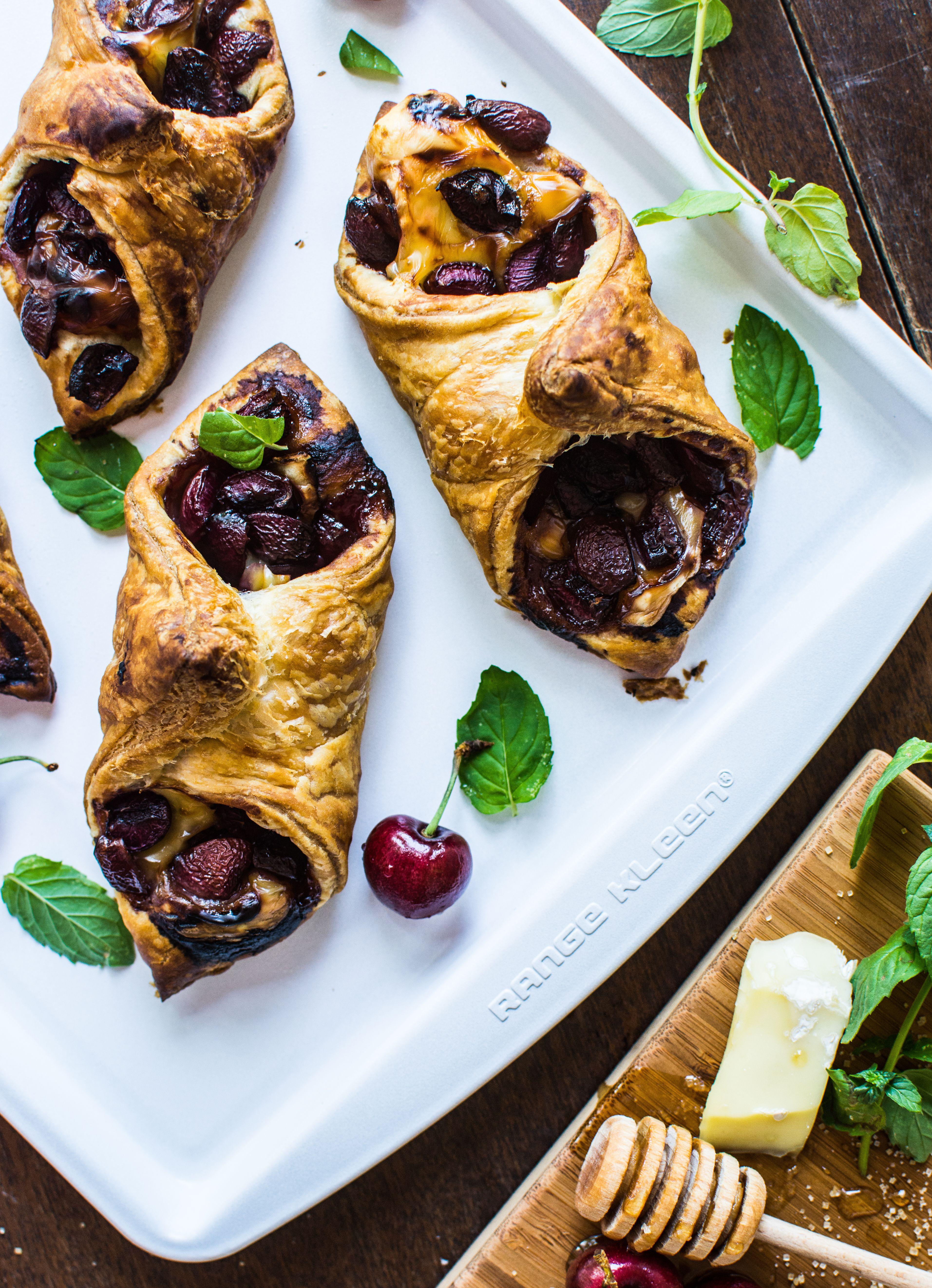 Cherry and brie honey puff pastry recipe honey puffs
