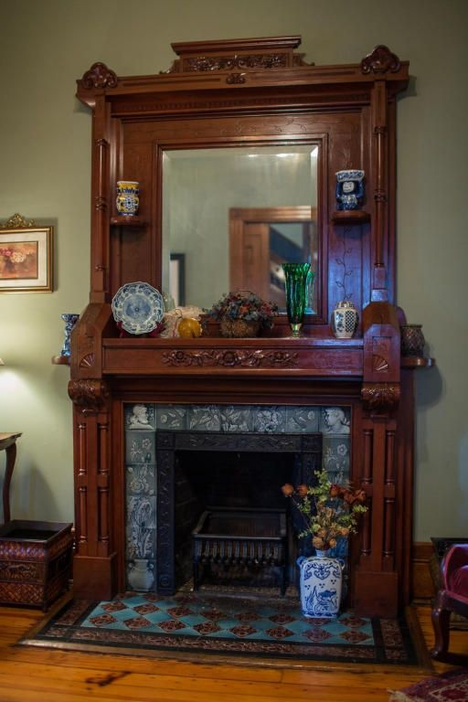 1899 Queen Anne Victorian Knoxville Tn Fireplace Hearth Freestanding Fireplace Fireplace