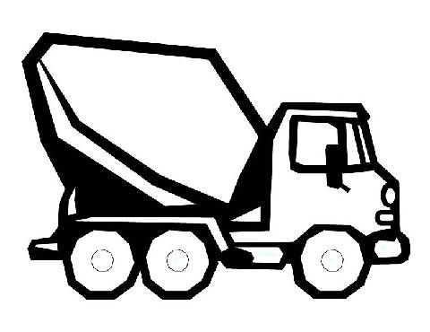 preschool coloring pages truck