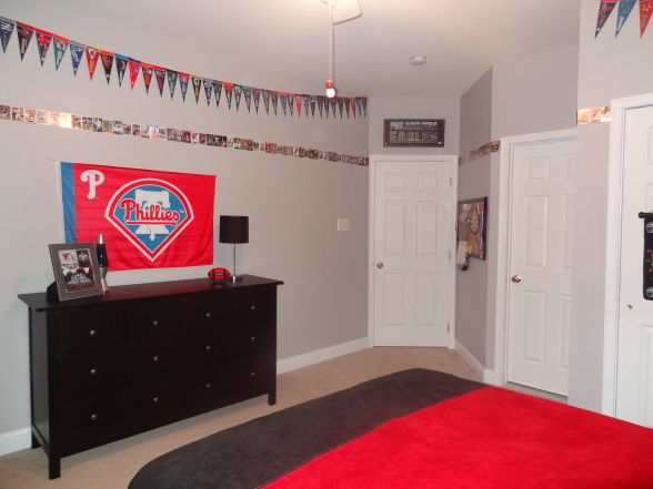 Love The Baseball Card Border Home Stuff Boys Baseball Bedroom