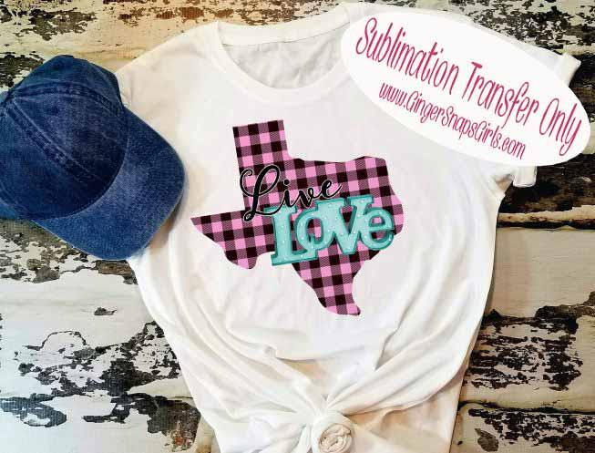 Download Pink Plaid State Live Love Sublimation Transfers ...