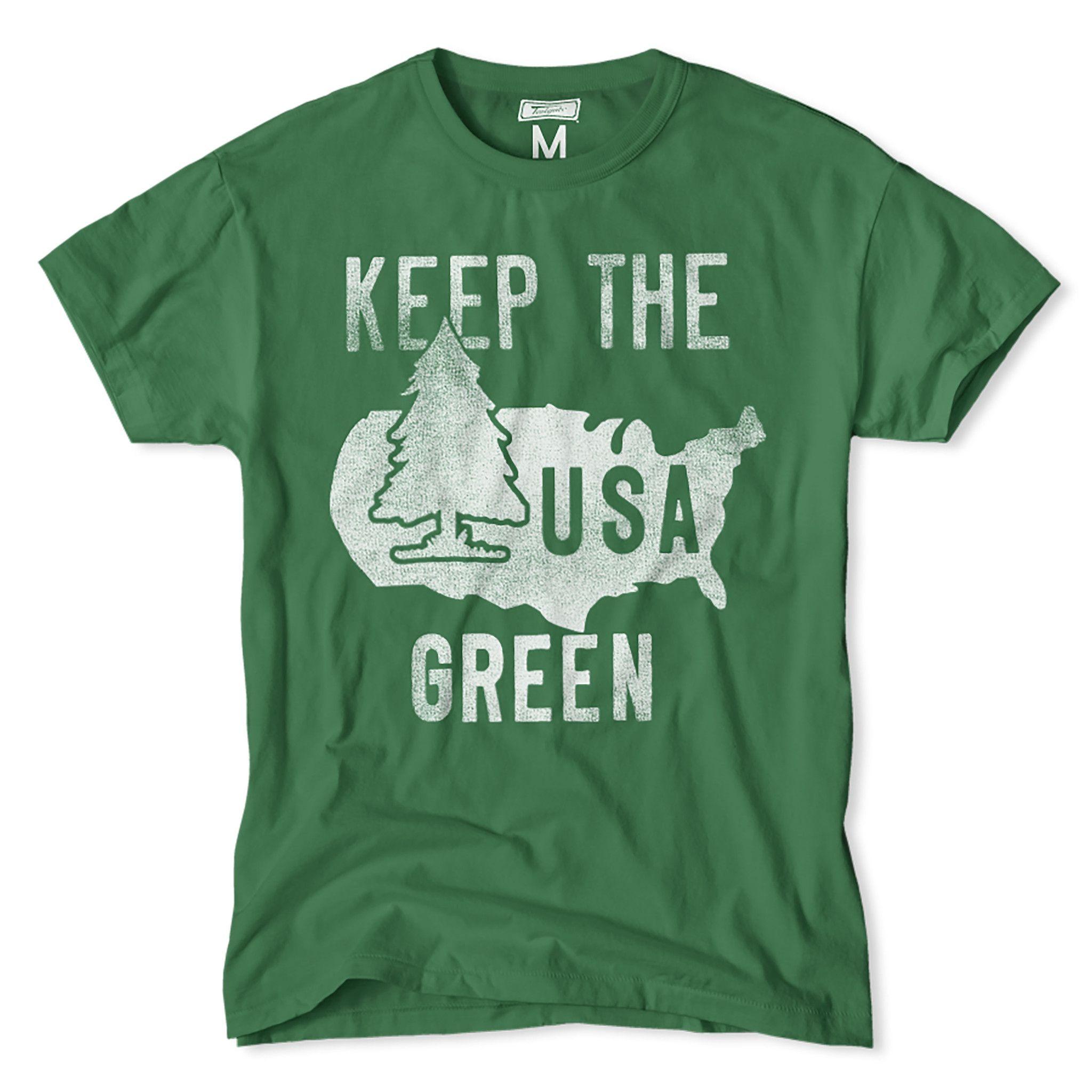 Shirt design usa - Keep The Usa Green T Shirt