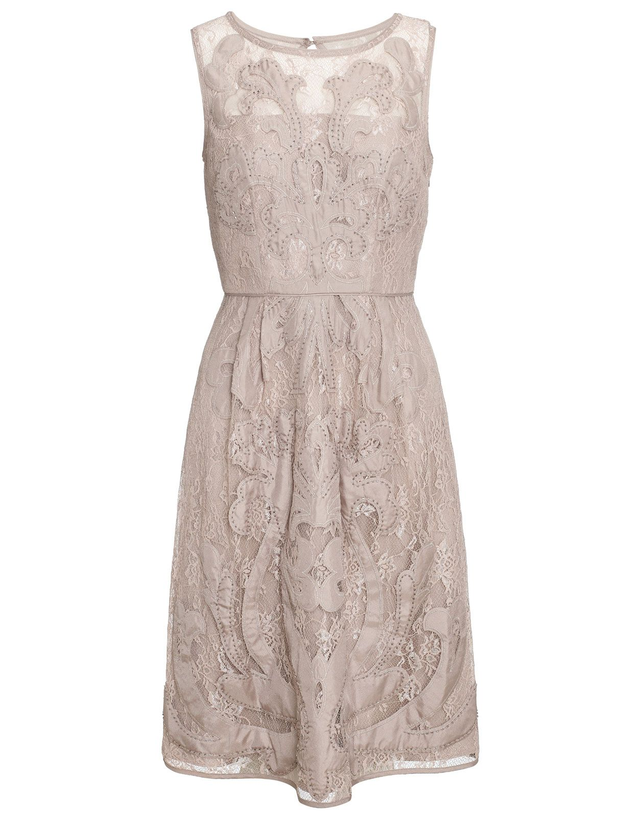 Romantic soft and elegant beautiful lace trend dress complete