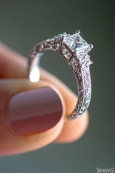 18k White Lp2253 Engagement Ring Wedding Rings Solitaire Best Engagement Rings Wedding Rings Vintage