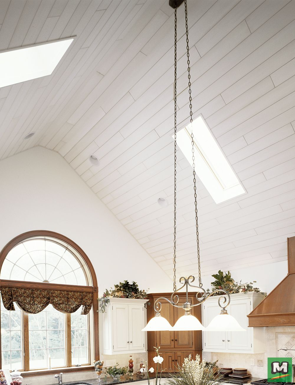 Armstrong Woodhaven Ceiling Planks Add The Warmth And Natural Beauty Of Natural Looking Wood To Your Home They Are Eas Ceiling Ceiling Lights White Painting