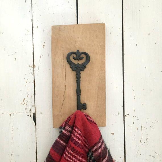 Wooden Coat Hook, Oak Coat Hook, Rustic Coat Hook, Country Style Decor, Rustic Home Decor, Hallway Organizer, Housewarming Gift, Wall Decor