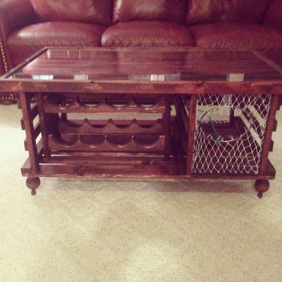Lobster Trap Coffee Table WINE RACK Made In By