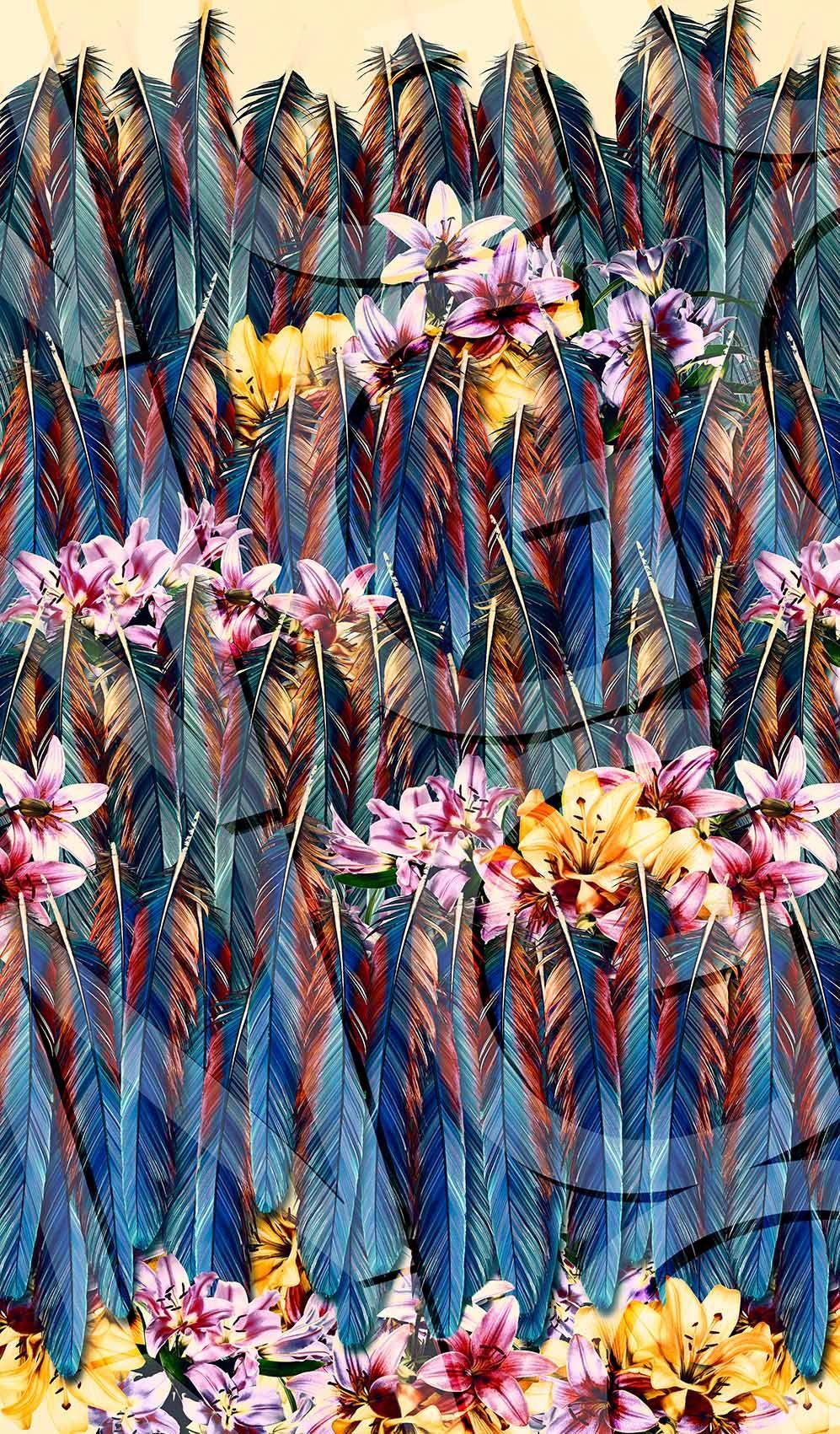 Penas e Flores Tropicais...