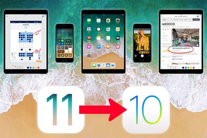 Downgrade iOS 11 to iOS 10 3 3 on iPhone or iPad | UnlockBoot News