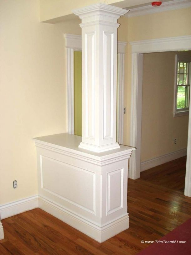 Half Wall Wood Paneling: Woodwork, Fireplace Mantles, Home