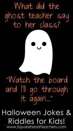 Elegant Squarehead Teachers: Halloween Jokes And Riddles For Kids!