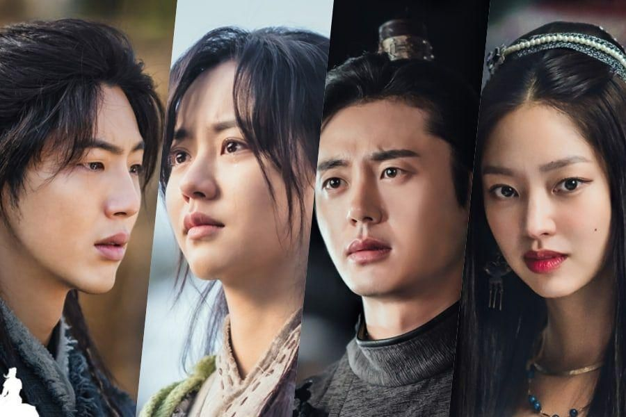 "Ji Soo, Kim So Hyun, Lee Ji Hoon, And Choi Yoo Hwa Are Entangled In A Sad Love Story In Poster For ""River Where The Moon Rises"""
