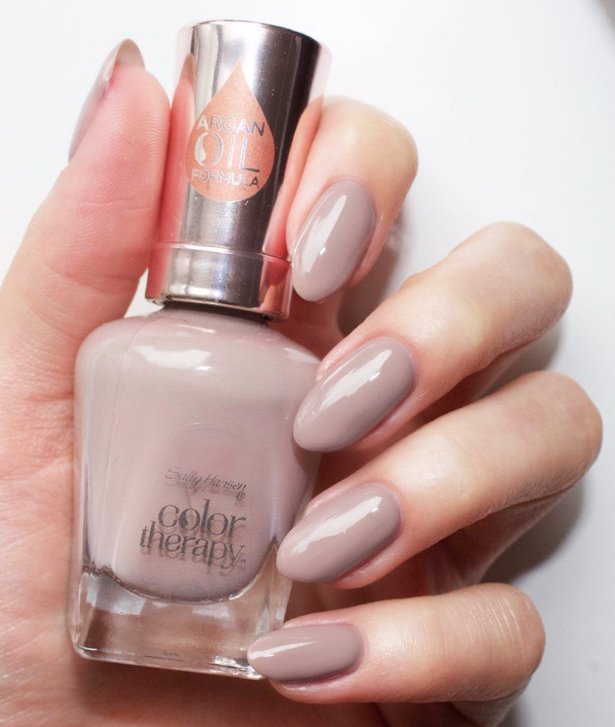"""sally hansen """"steely serene"""" - taupe grey #nail polish / lacquer"""