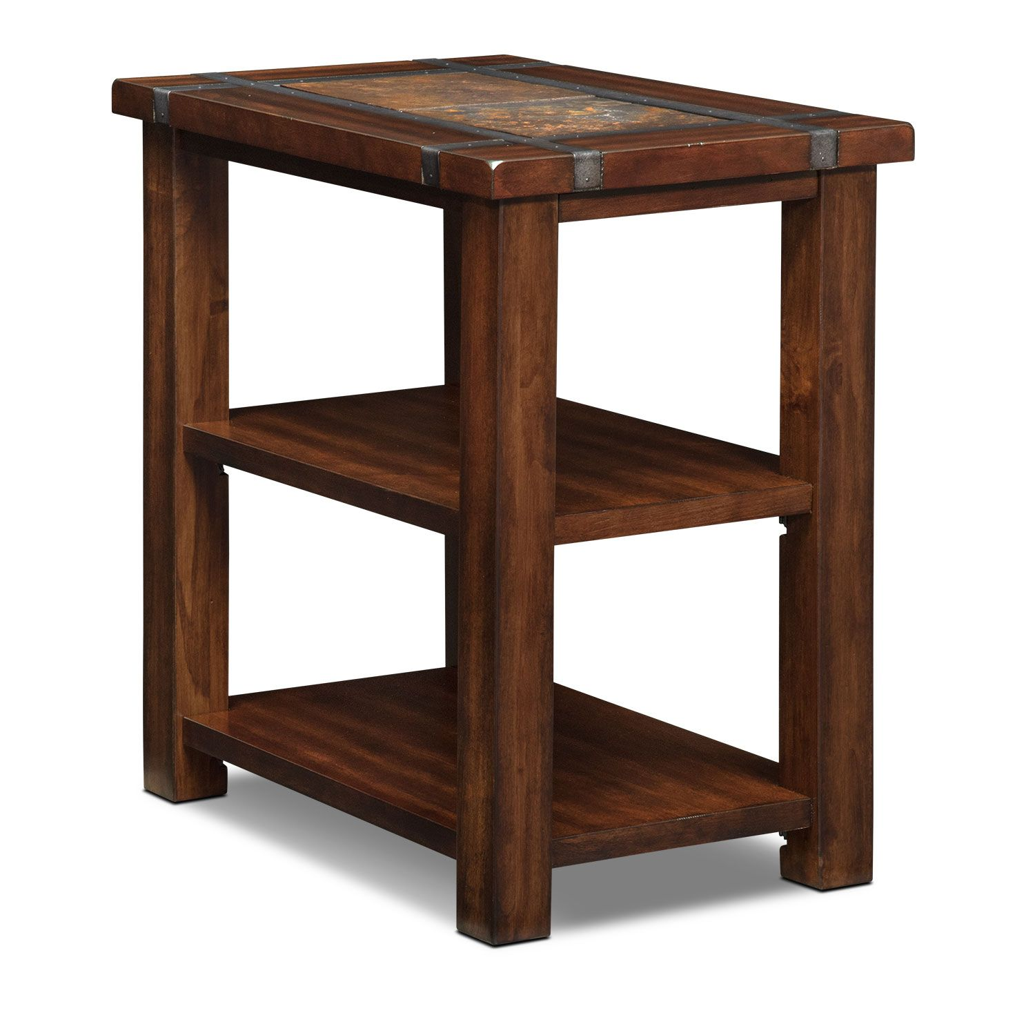 Accent and occasional furniture slate ridge chairside table cherry