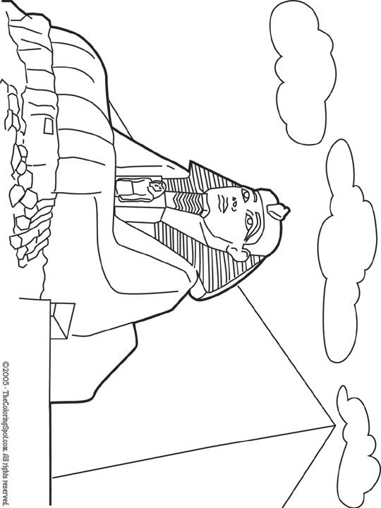 great Sphinx coloring page site has other printables for places ...