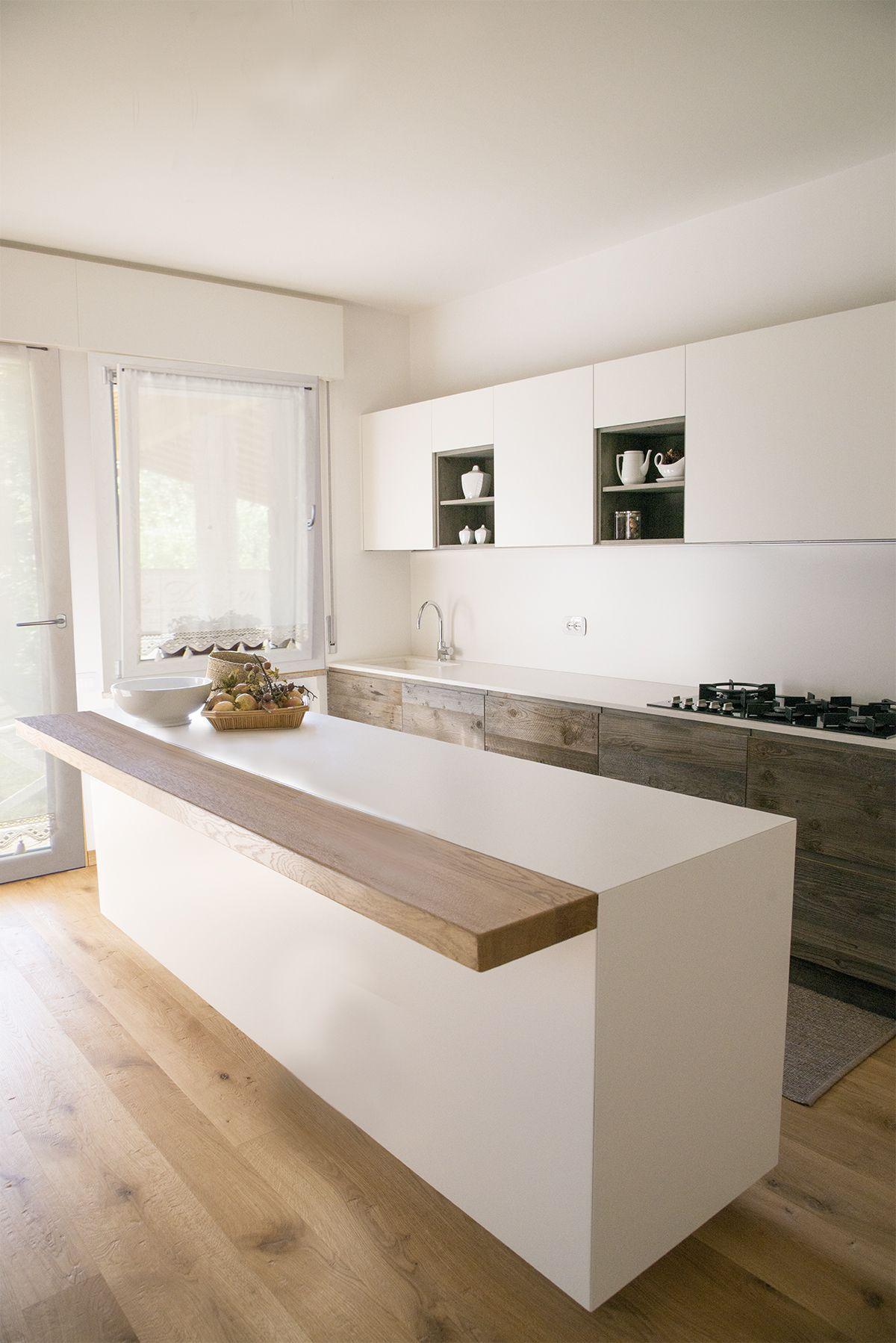 Stone collection cucina in rovere antico con piano top in - Pianali per cucine ...