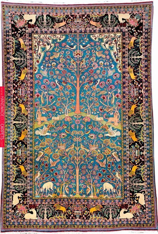 Tehran Rug Tree Of Life Rugs On Carpet Persian Carpet Rugs