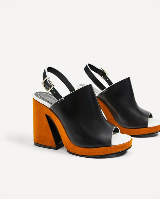 a0a30cda9e2 Image 3 of LEATHER PLATFORM SANDALS from Zara