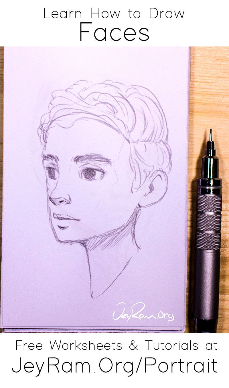 Learn How To Draw Simple Faces Worksheets Tutorials In 2020 Drawings Drawing Tutorial Art Inspiration Drawing