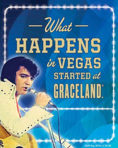 Elvis Happens In Vegas Tin Sign Elvis Quotes Elvis Presley News