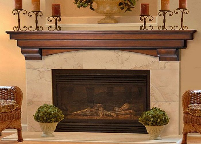Auburn Fireplace Mantel Decor With Candles Above Shelf ~ http://lanewstalk.com/best-fireplace-mantel-decor/