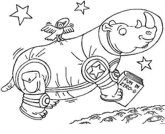 Animals Astronauts Coloring Pages