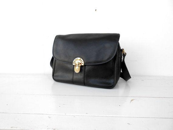 c1dc5683d84 Vintage Leather Bag Black Saint Jack Leather Crossbody Bag / Leather ...
