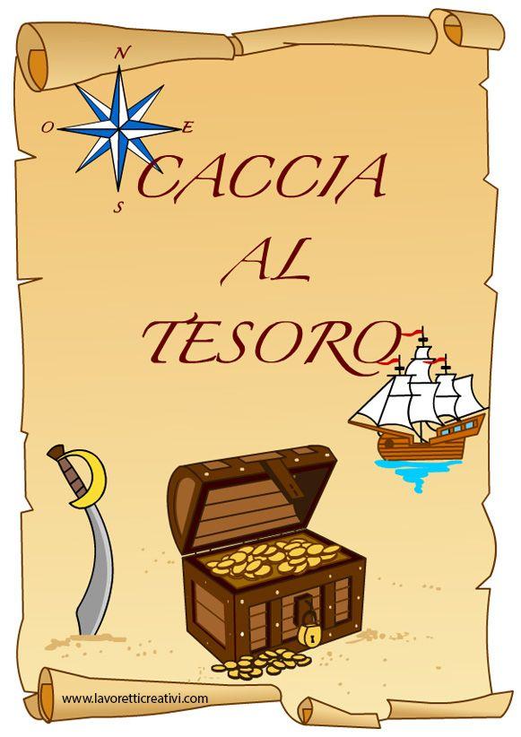 Pergamena Caccia Al Tesoro Festa Compleanno Piratas Feste Di