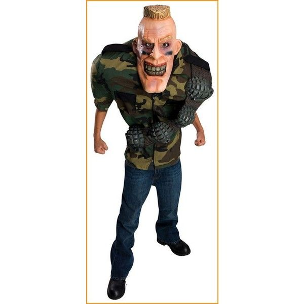 adult army dude costume big and scary costumes 48 found on polyvore scary costumescostumes kidshalloween - Halloween Scary Costumes For Boys