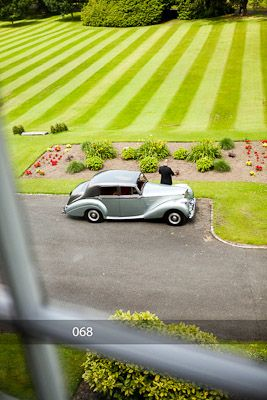 Luttrellstown Castle Resort chauffeur and private car waiting to pick up the happy couple on their special wedding day