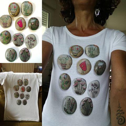 Association Artistique et création de «T-shirt qui déchire» !!!!!😋😀  @atelier.le65   @carinecreation65   #carinecreation65 #atelierle65 #larteliertarbes #petitscailloux #petitdessin #artistwork #artclothing #delacouleurpleinlatete #onestbienla #tuveuxduteesh #tshirt #tshirtquidechire #jedisoui