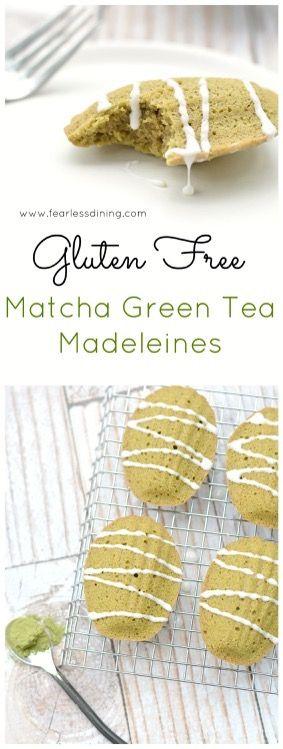 Gluten Free Matcha Madeleines http://www.fearlessdining.com