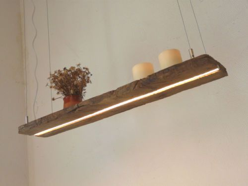 LED Lampe Hängeleuchte Holz Antik Strahl Holzlampe rustikal