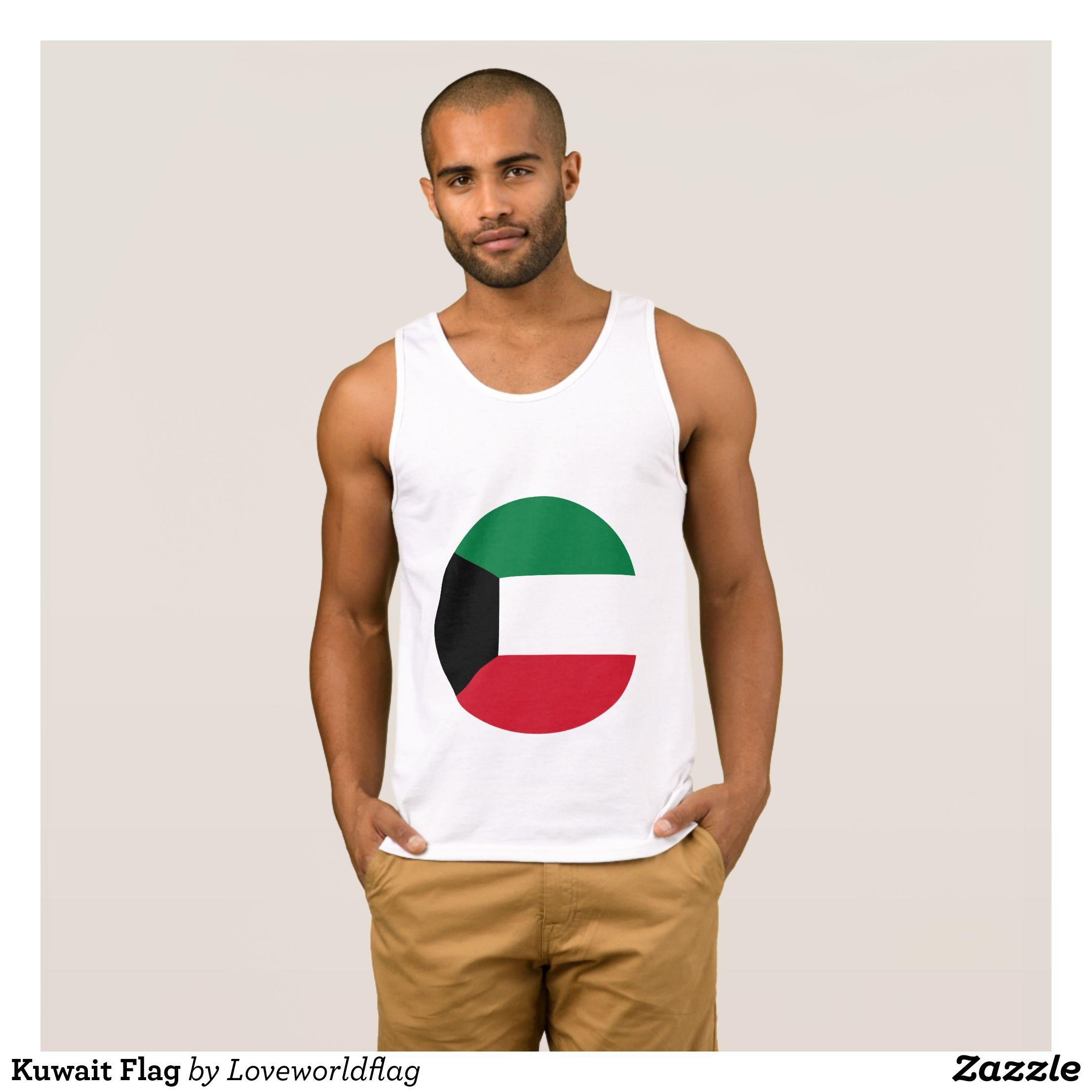 Kuwait Flag Tank Top Tank tops, Fashion