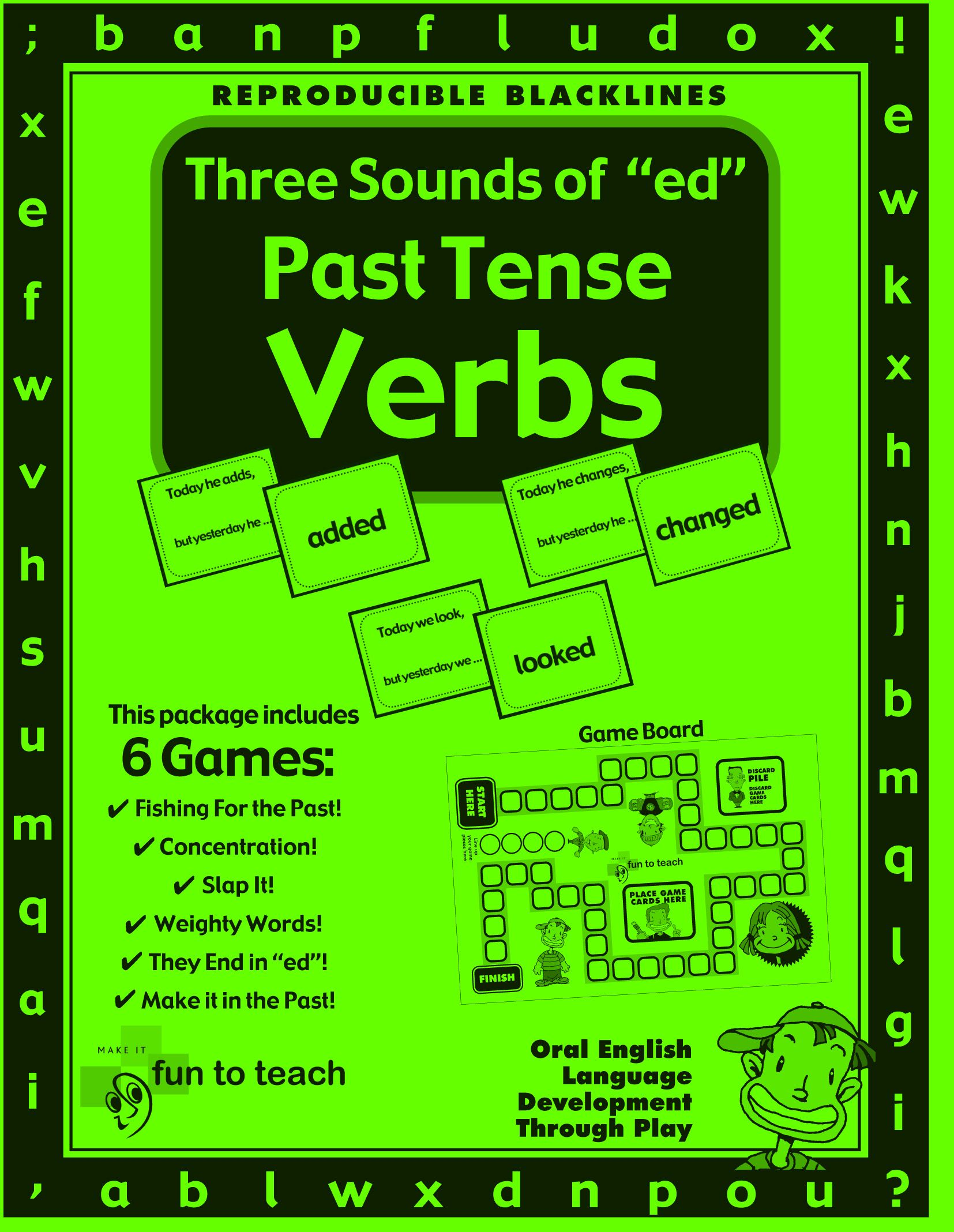 Three Sounds Of Ed Past Tense Verbs