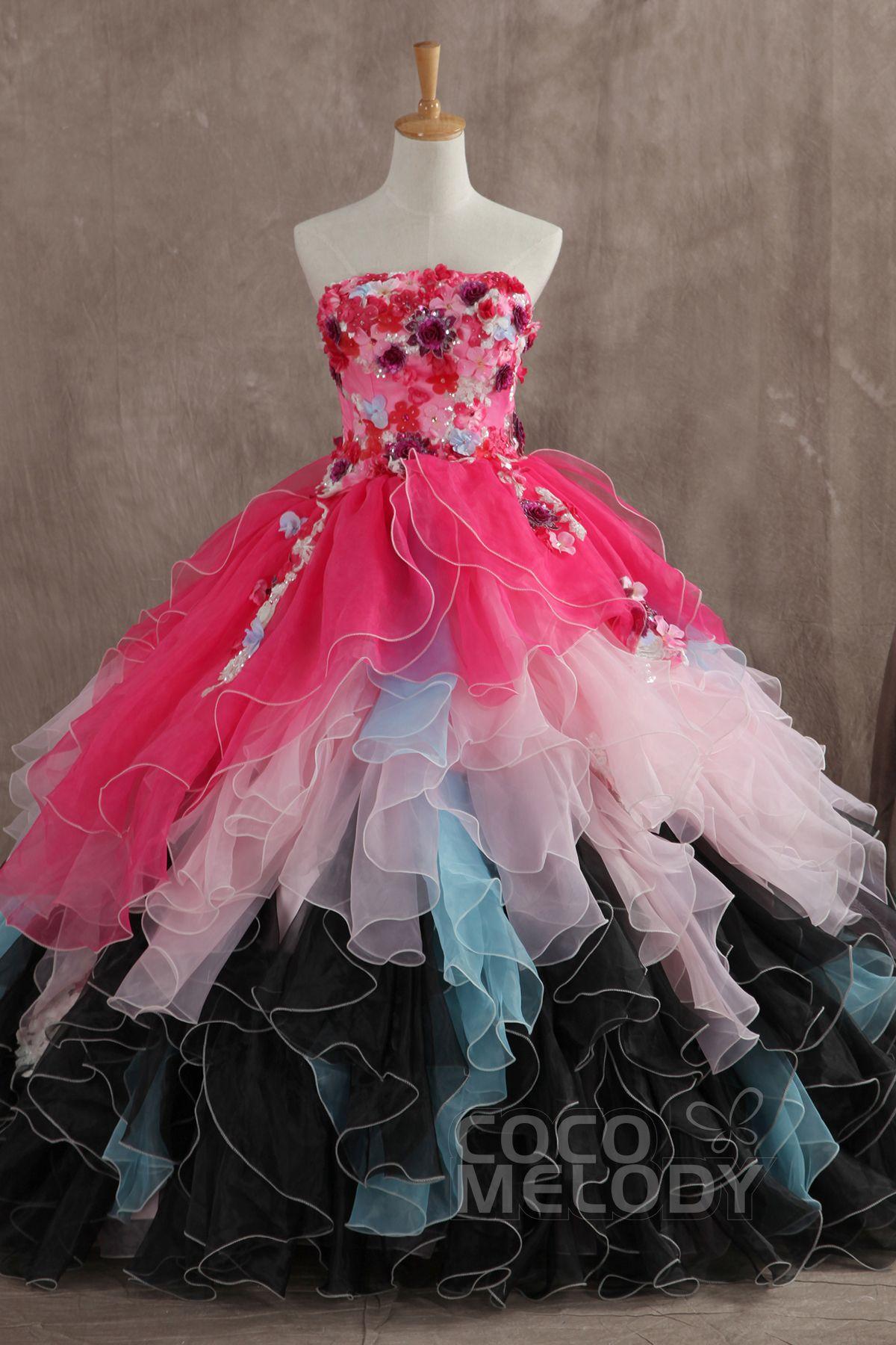 ドラマチック プリンセスライン ビスチェ ナチュラル フロアレングス オーガンジー ピンク スリーブレース シャールング編み上げ式 ウエディングドレス フラワー JUZ014004