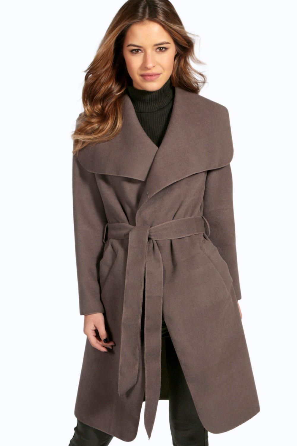 Petite Sinead Belted Shawl Collar Coat | fall/winter