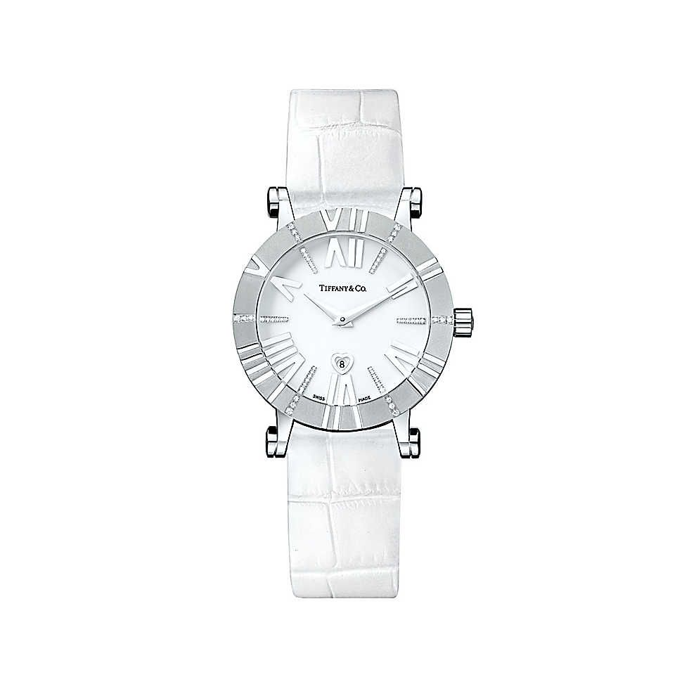 852a4ace06e9 Atlas® watch in 18k white gold with diamonds