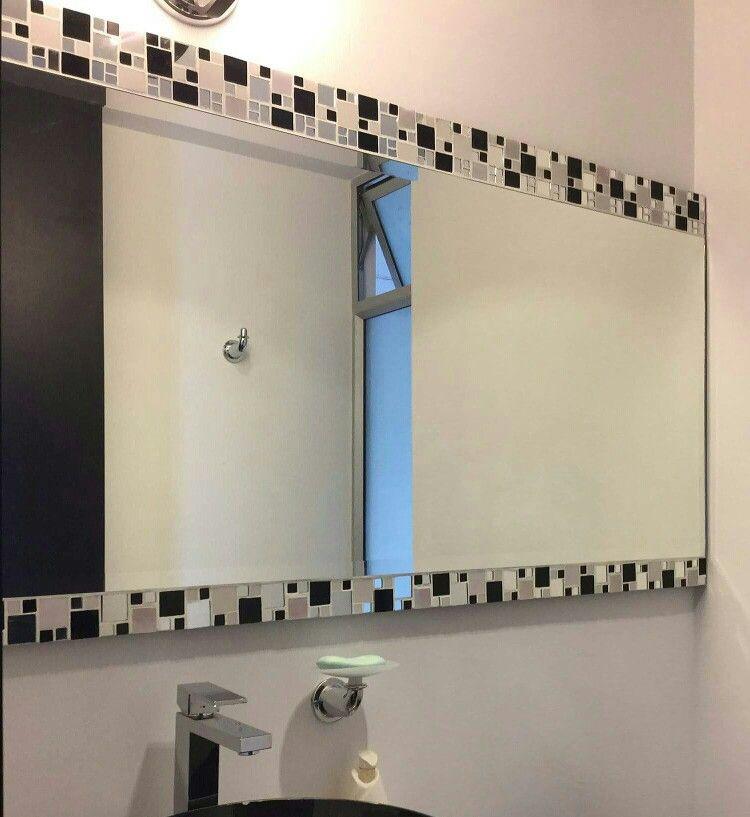 Espejo en mosaico espejos espejos para ba os for Espejos para banos con guardas