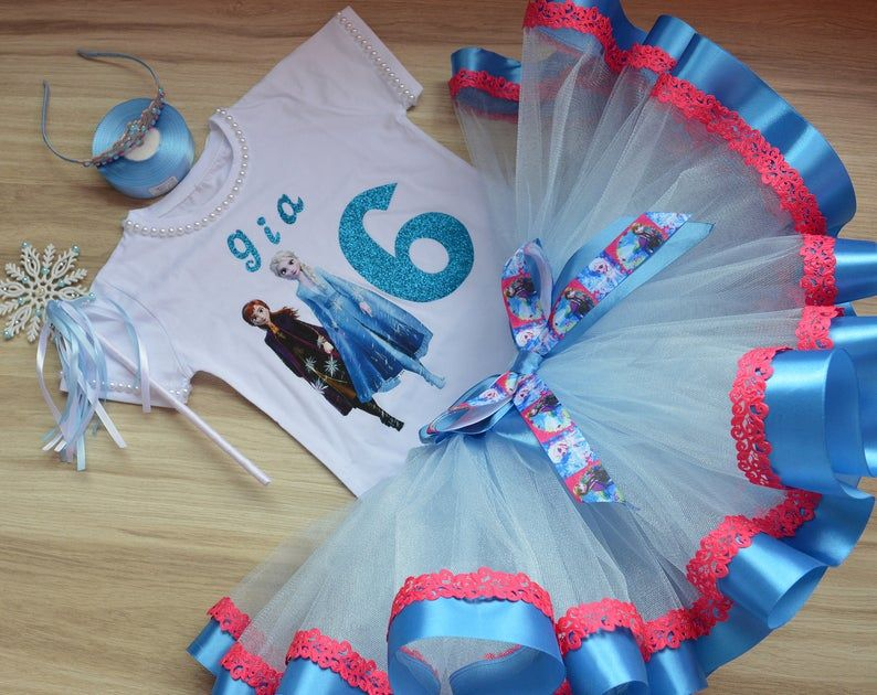 Frozen 2 birthday tutu outfit personalized outfit Elsa