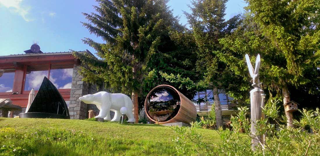 Charmant Sauna Bois Jardin Haute Savoie