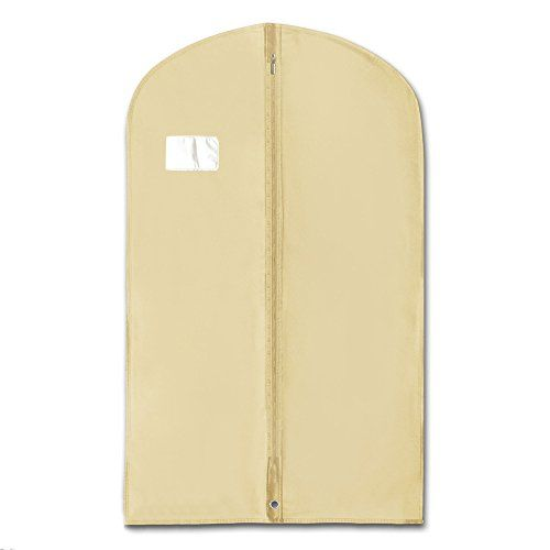 Hangerworld Quality 40 Breathable Zipped Suit Garment Cover Bags Pack of 5 Ivory * To view further for this item, visit the image link.