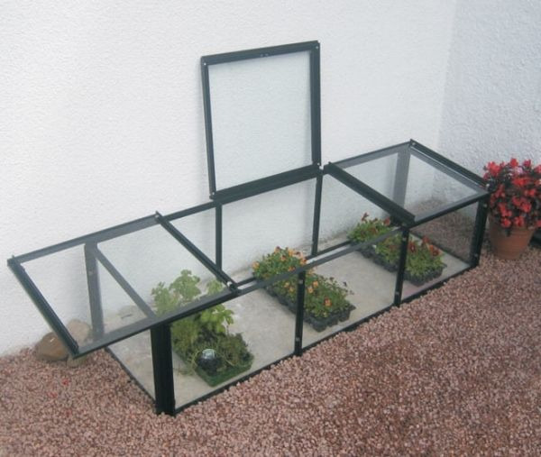 Elite Cold Frame 4\'.5\'\' x 2\'.3\'\' with Toughened Glass | Allotment ...