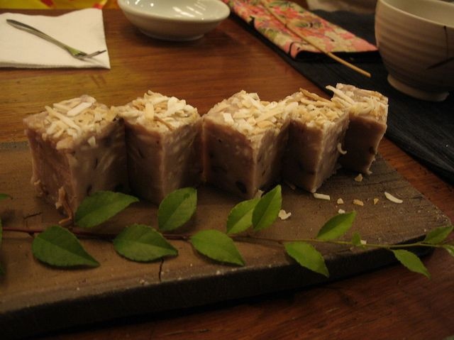 coconut-flavored taro cake @ Taipei,  I want its recipe!