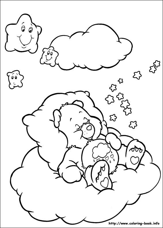 the care bears coloring pages - photo#2