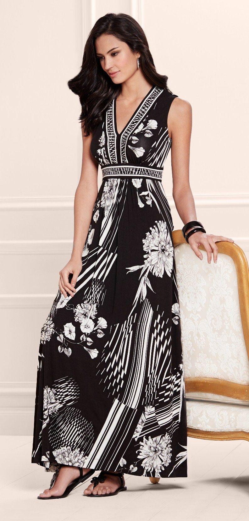 f70d951391 Dahlia Dreams: Soma Border Print Maxi Dress in Destination Floral Print  #LoveSoma