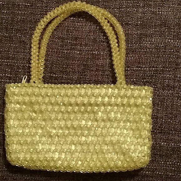 Nice Zip Up Beaded Handbag Unique Purse