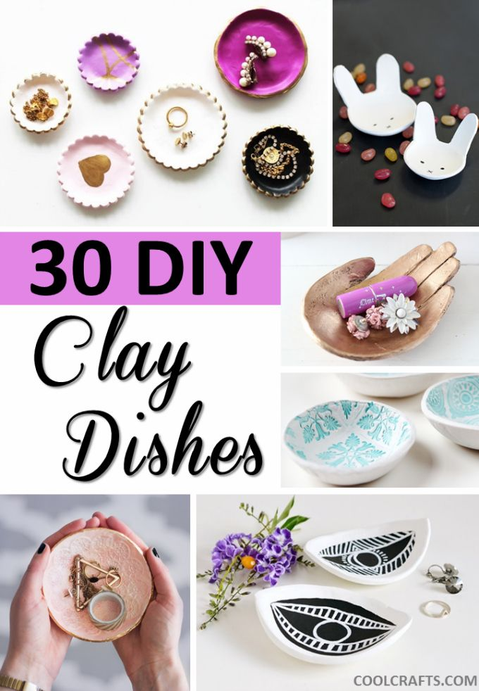 30 Decorative Clay Dishes You Can Make Yourself #diyprojects