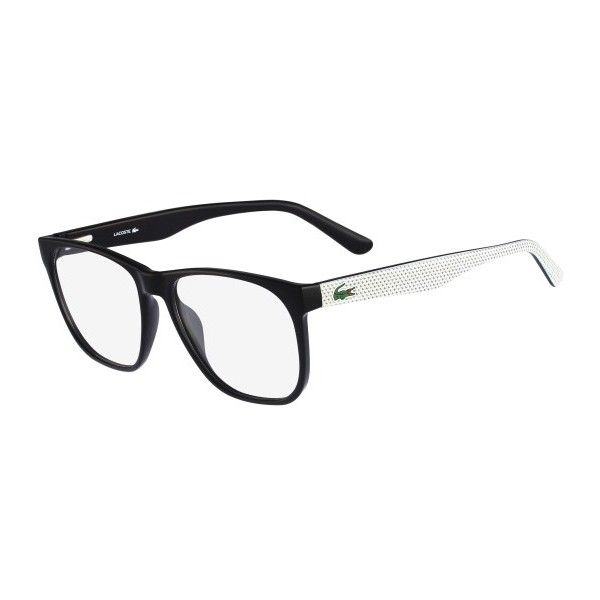a76d3fb8052 Lacoste L2742-001 Mens Black Frame Eyeglasses ( 101) ❤ liked on Polyvore  featuring accessories